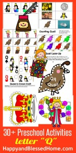 Learn to Read Preschool Letter Q HappyandBlessedHome.com