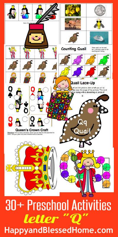 Learn to Read Preschool Letter Q HappyandBlessedHome.com