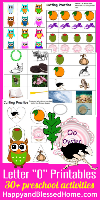 Learn to Read Preschool Alphabet Letter O Free printables HappyandBlessedHome.com