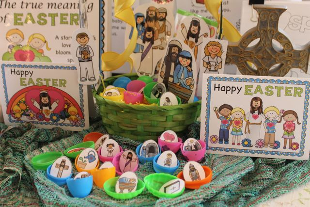 The True Meaning Of Easter Book and Activities Cards eggs and puppets
