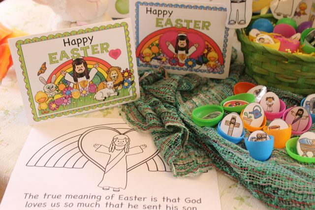 The True Meaning of Easter Book and Activities with coloring