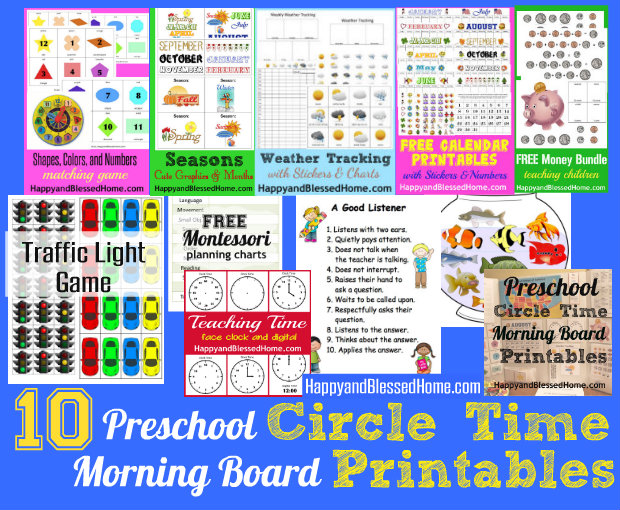 Preschool Activities Circle Time Morning Board - Happy and