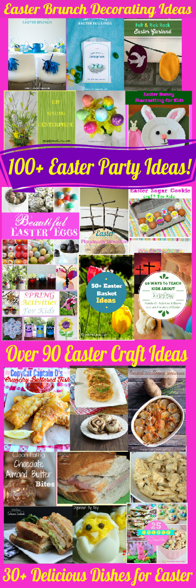 100 Easter Party Ideas Family Fun Friday HappyandBlessedHome.com