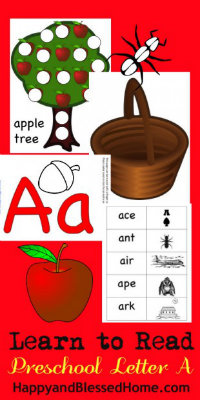 5 FREE Letter A Preschool Worksheets from HappyandBlessedHome.com