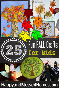 200w Fun Fall Crafts for Kids by HappyandBlessedHome