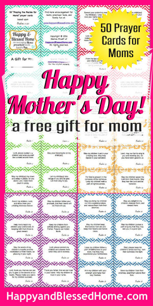 300 FREE Mothers Day Gift 50 Prayer Cards for Moms HappyandBlessedHome