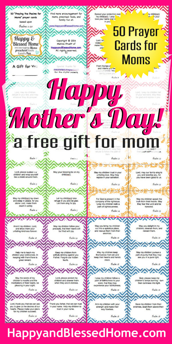 Happy Mothers Day 50 Prayer Cards