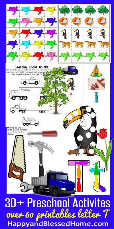 Learn to Read Preschool Alphabet Letter T HappyandBlessedHome.com