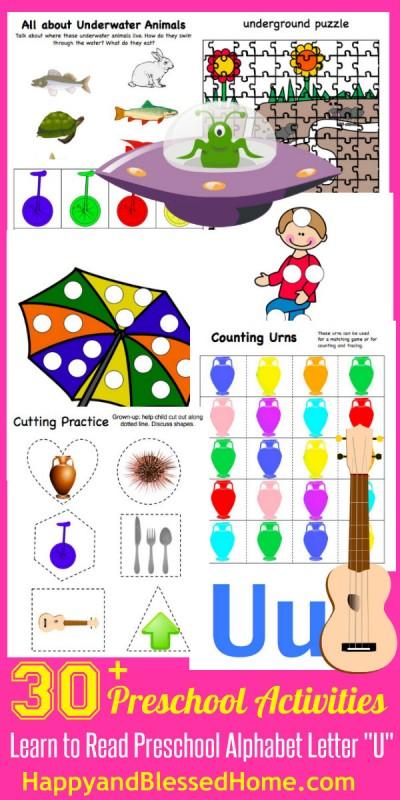 Learn to Read Preschool Letter U