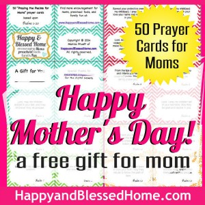 Square FREE Mothers Day Gift 50 Prayer Cards for Moms HappyandBlessedHome