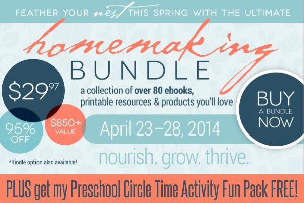 Ultimate Homemaking Bundle plus preschool circle time fun pack HappyandBlessedHome.com