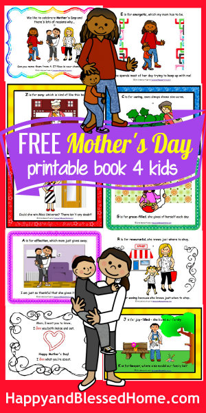 300 Moms FREE Mothers Day Book for Kids HappyandBlessedHome
