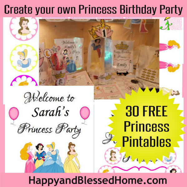 Create Your Own Princess Birthday Party wFREE Printables – Disney Princess Printable Birthday Cards