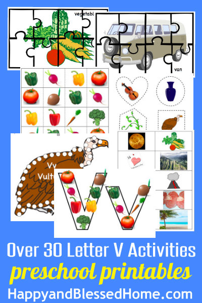 Learn to Read Preschool Letter V HappyandBlessedHome.com