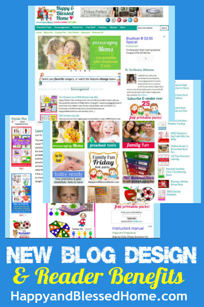 New Blog Design HappyandBlessedHome.com