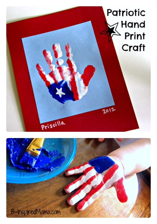 Patriotic-Hand-Print-Flag-Craft-at-B-Inspired-Mama