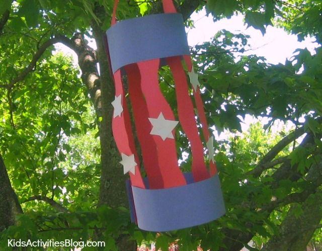 patriotic lantern craft