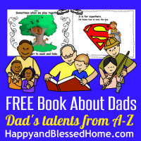 FREE Book to Celebrate Dads at HappyandBlessedHome.com