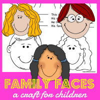 FREE All About my Family Book Craft at HappyandBlessedHome.com