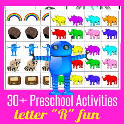 250 Learn to Read Preschool Alphabet Letter R HappyandBlessedHome