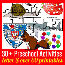 250 Learn to Read Preschool Alphabet Letter S HappyandBlessedHome