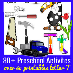 250 Learn to Read Preschool Alphabet Letter T HappyandBlessedHome
