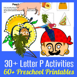 250 Learn to Read Preschool Letter P HappyandBlessedHome