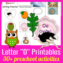 250 Learning to Read Preschool Alphabet Letter O Free printables HappyandBlessedHome