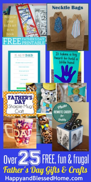 400 25 Free Fun and Frugal Fathers Day Gifts and Crafts HappyandBlessedHome