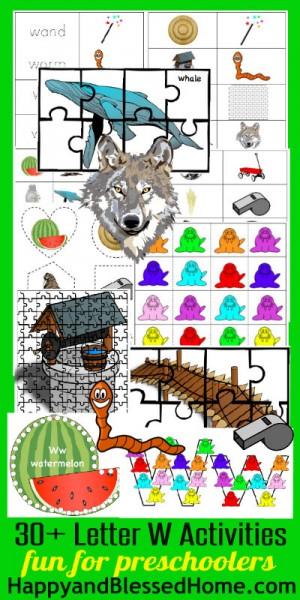 400 Learn to Read Preschool Alphabet Letter W HappyandBlessedHome.com