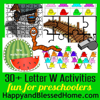 403 Learn to Read Preschool Letter W HappyandBlessedHome