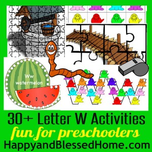 600 Learn to Read Preschool Letter W HappyandBlessedHome