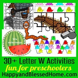 600 Learn to Read Preschool Letter W HappyandBlessedHome