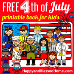 FREE Fourth of July Printable Book HappyandBlessedHome.com