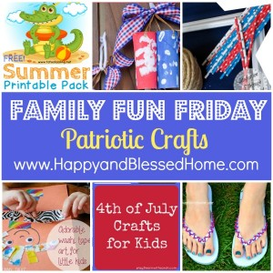Family Fun Friday Patriotic Crafts