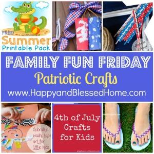Family Fun Friday Patriotic Crafts