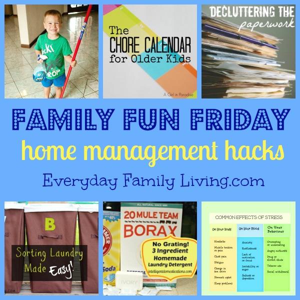 Home Managment Hacks on Family Fun Friday