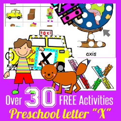 250 Learn to Read Preschool ALphabet Letter X HappyandBlessedHome.com