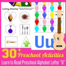 250 Learn to Read Preschool Alphabet Letter U 4 HappyandBlessedHome