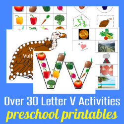 250 Learn to Read Preschool Letter V HappyandBlessedHome