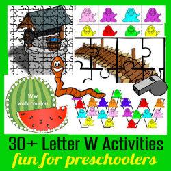 250 Learn to Read Preschool Letter W HappyandBlessedHome