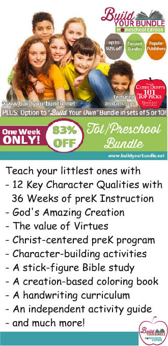 Save 83% On Preschool Curriculum & Resources at the Build Your Bundle - Homeschool Edition Sale!