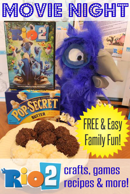 Family Fun Movie Night With Rio Crafts Recipes And Games