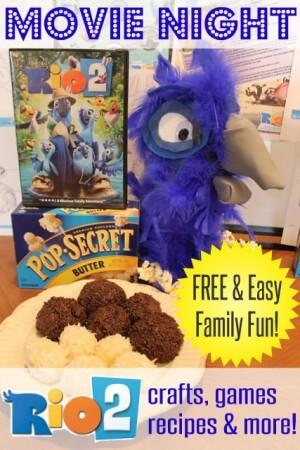 Crafts-Recipes-Rio2-Movie-Night-Family-Fun-HappyandBlessedHome