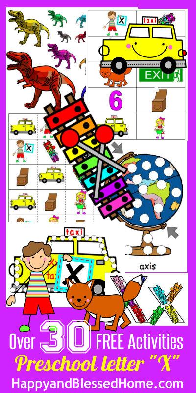 Learn-to-Read-Preschool-Alphabet-Letter-X-HappyandBlessedHome.com