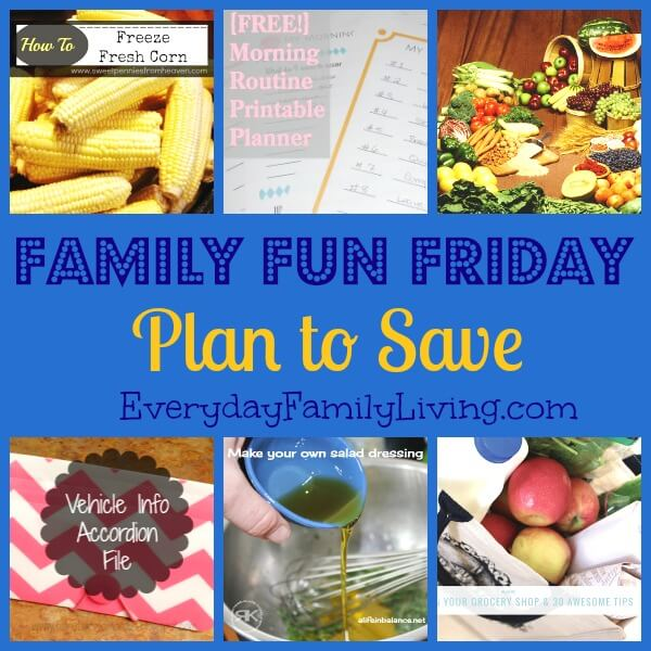 Family Fun Friday Plan to Save