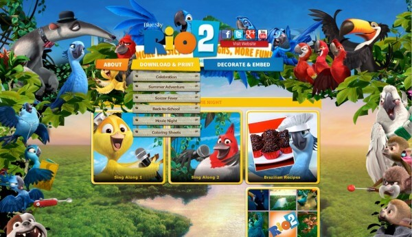 Rio 2 Fun Movie Night Activities