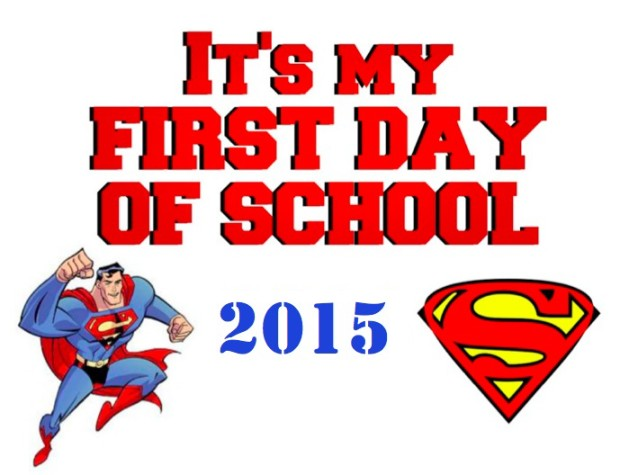 Superman Back to School Sign Button