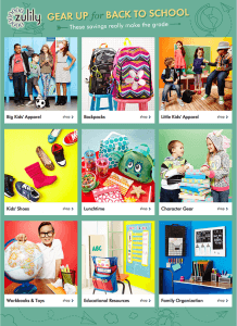 Zulily Back To School