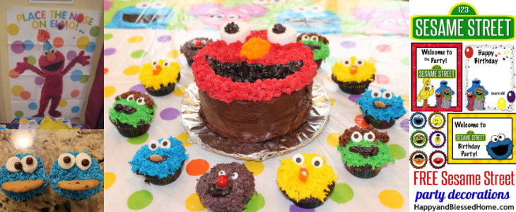 FREE Sesame Street Birthday Party Decorations